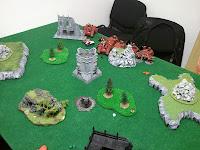 BA vs Dark Eldar deploy